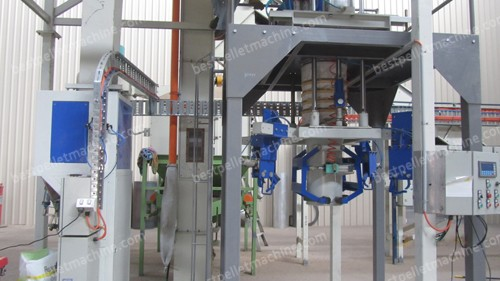 bulk bagger for wood pellet mill plant