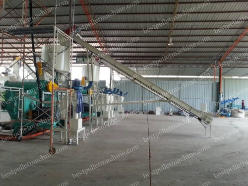 conveyor for palm fiber