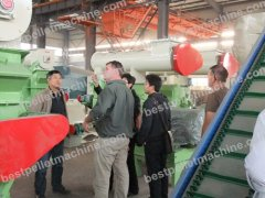american customers visited large pellet plant